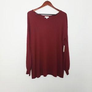 14th & union red grape sweater